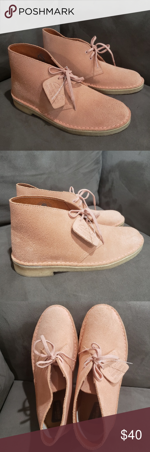 peach ankle boots