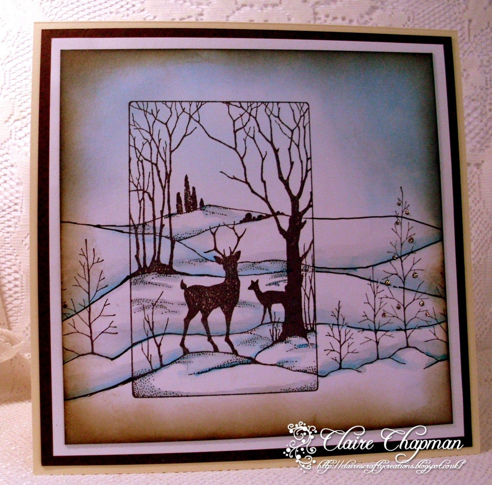 Claire's Crafty Creations: Reindeer Landscape from Chocolate Baroque