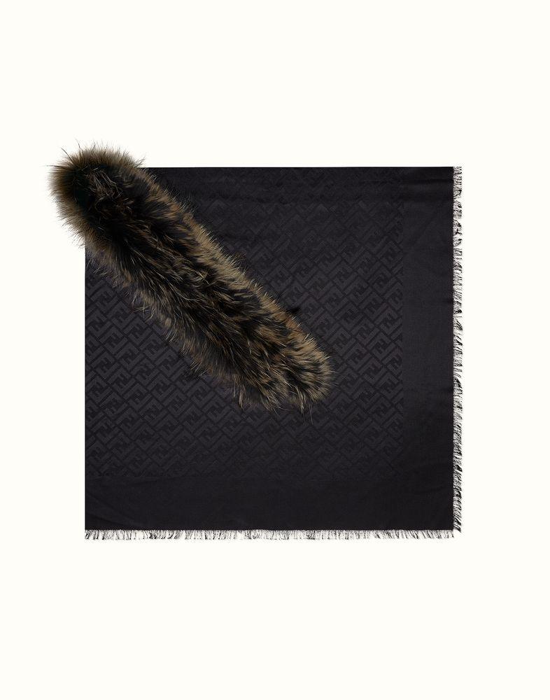 FENDI   CH�LE FASHION SHOW en jacquard noir et fourrure