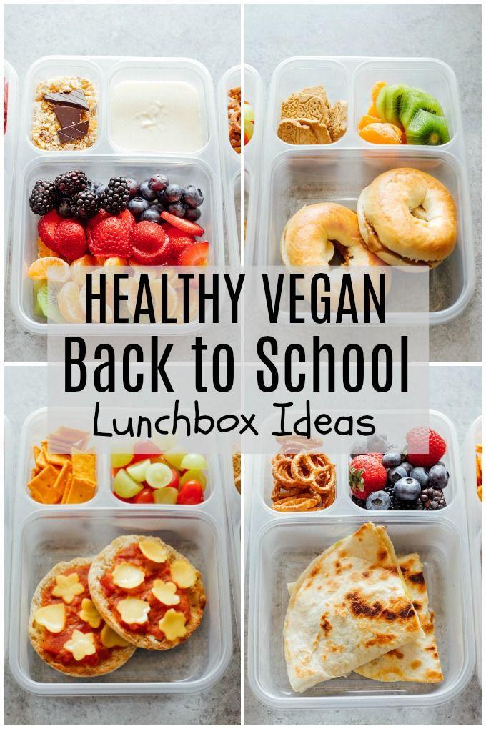 Healthy Vegan Back to School Lunchbox Ideas