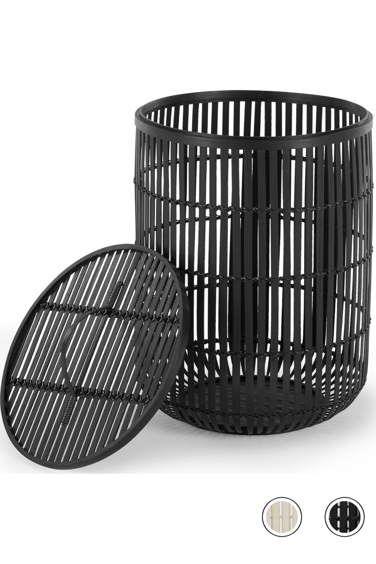 Made Black Laundry Basket In 2020 Black Laundry Basket Laundry Basket With Lid Woven Laundry Basket
