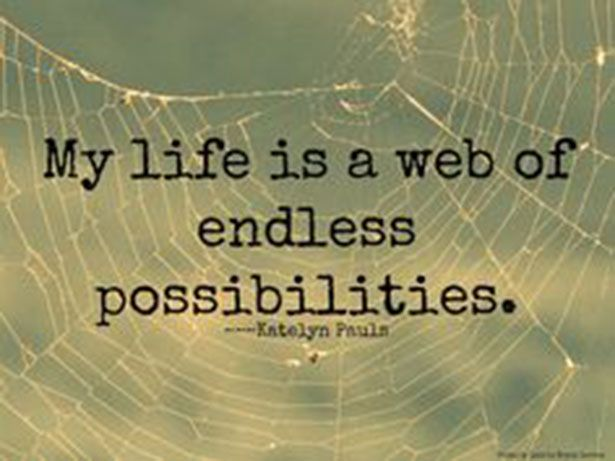 True...So True! Life Is A Web Of Endless Possibilities