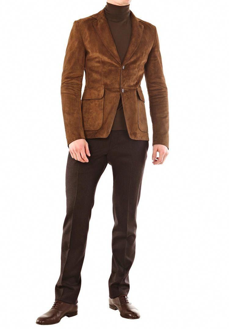 Gucci Brown Suede Blazer Men Recherche Google Leatherjacketsformenbrown Blazer Outfits Men Suede Blazer Blazer