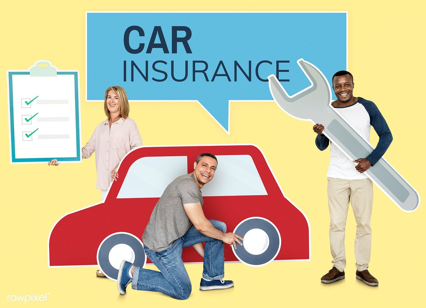 Download Premium Psd Of People With A Car Insurance Policy 468435
