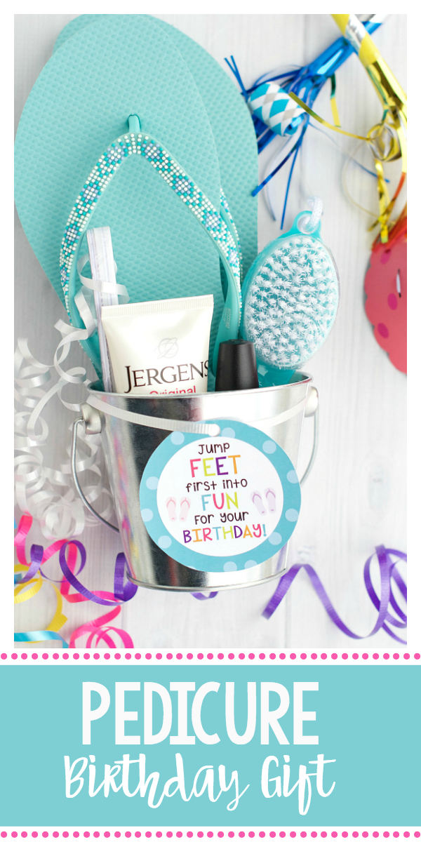 Pedicure Gift Basket-Cute Birthday Gift for Friends