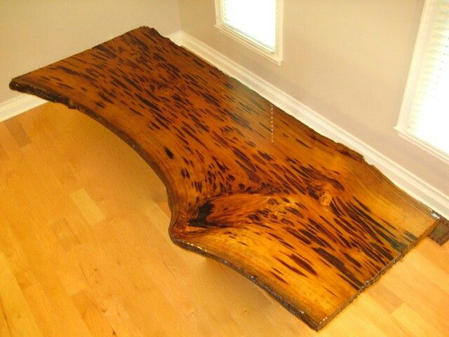 Really Cool Desks gorgeous pecky cypress table top that will make a distinctive