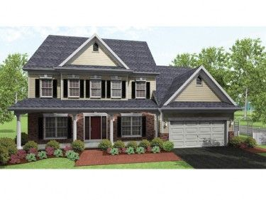 4 Bedroom with Lots of Storage (HWBDO75957) | Colonial House Plan from BuilderHousePlans.com