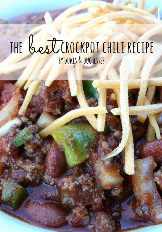 Comfort Food :: The Best Crockpot Chili Recipe - Dukes and Duchesses