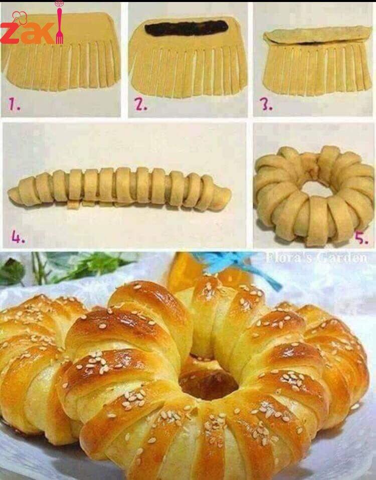 طريقة عمل المعجنات Bread Art Food Bread