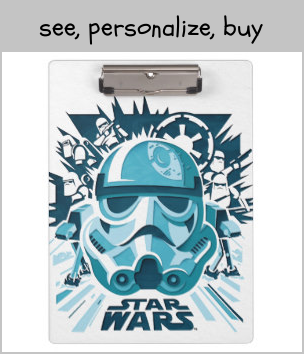 Stormtrooper Paper Cut-Out Collage Clipboard |  Stormtrooper Paper Cut-Out Collage Clipboard