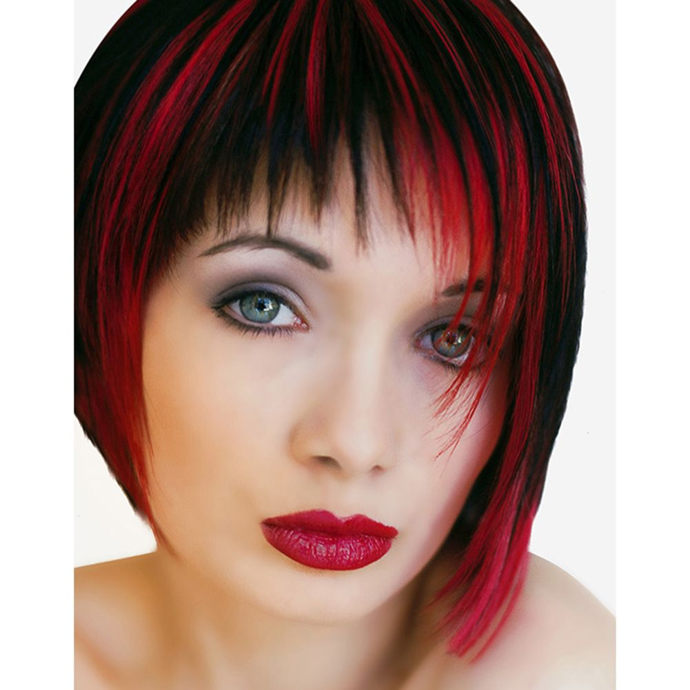 Trends For Bright Red Hair With Black Highlights Hair And Makeup