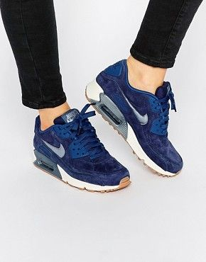 newest 6a520 dcfa2 Nike Midnight Navy Air Max 90 PRM Suede Trainers £110.00