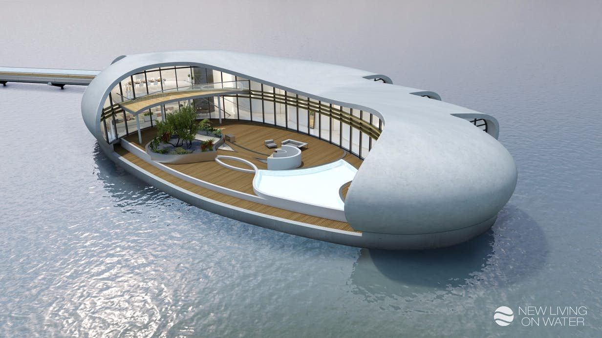Dubai S Newest Luxury Home On The Water Has An Eye Watering Price Floating House Floating Architecture Dubai Houses