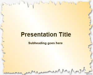 broken paper frame powerpoint template is a free simple powerpoint