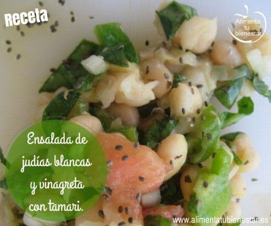 Ensalada de jud as blancas y vinagreta con tamari legumbres legumes pinterest - Ensalada fria de judias blancas ...