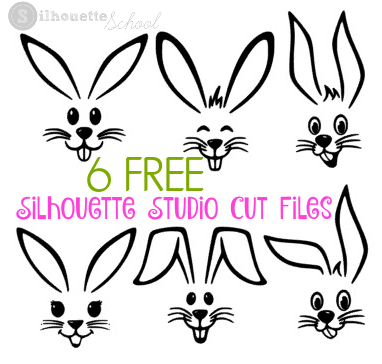 Free Easter Bunny Silhouette Studio Cut Files (Silhouette School ...