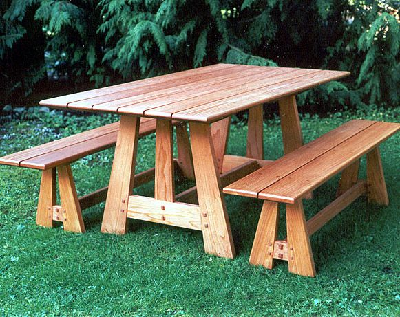 44a1bc2a7a04 Woodwork Cedar Picnic Table And Bench Plans PDF Plans | Bench Ideas ...