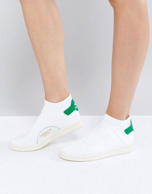 637cce7341e adidas Originals White Stan Smith Primeknit Sock Sneakers