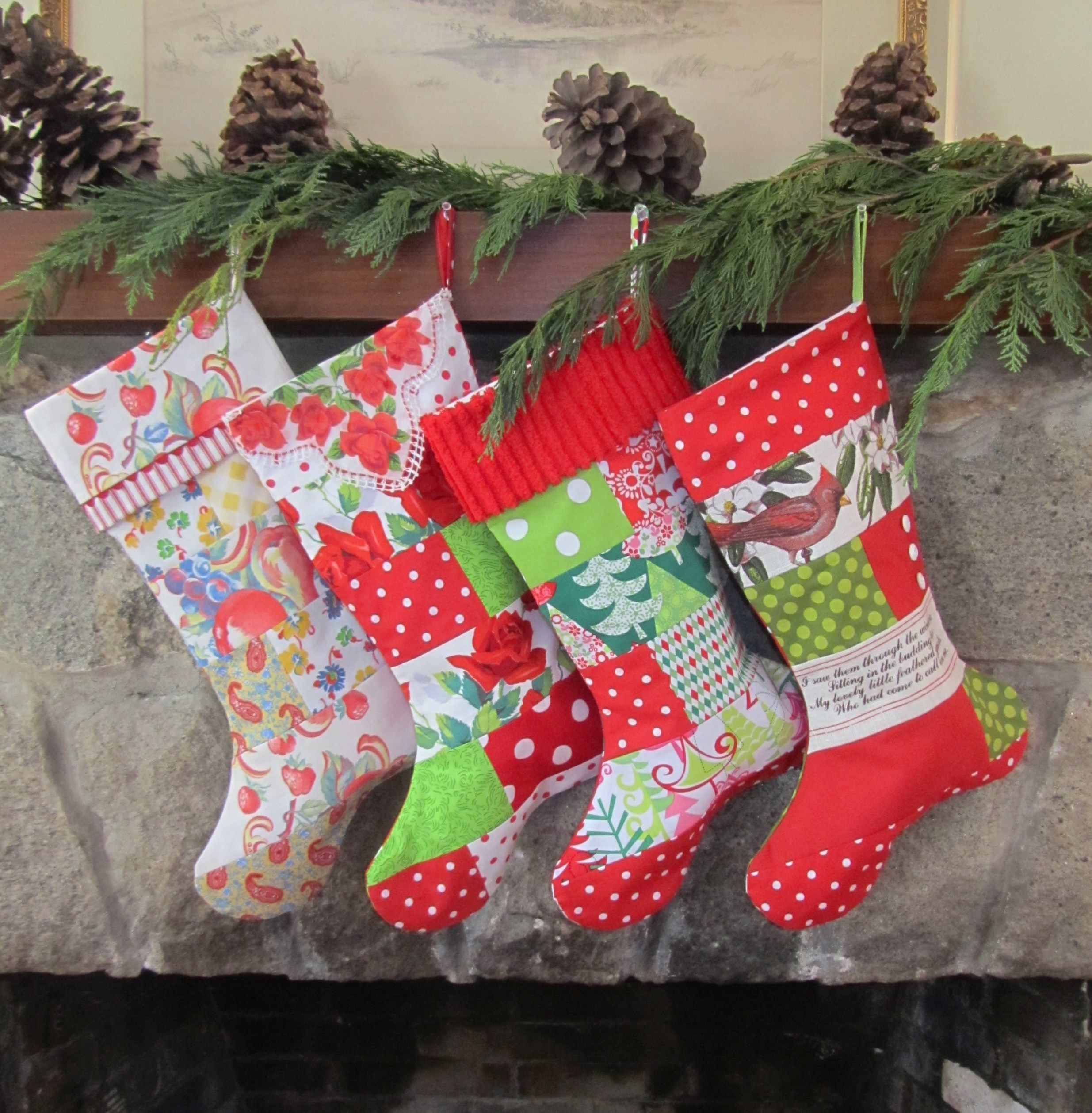 MIX AND MATCH PATCHWORK STOCKINGS at the Christmas Muse. xmasmuse ...
