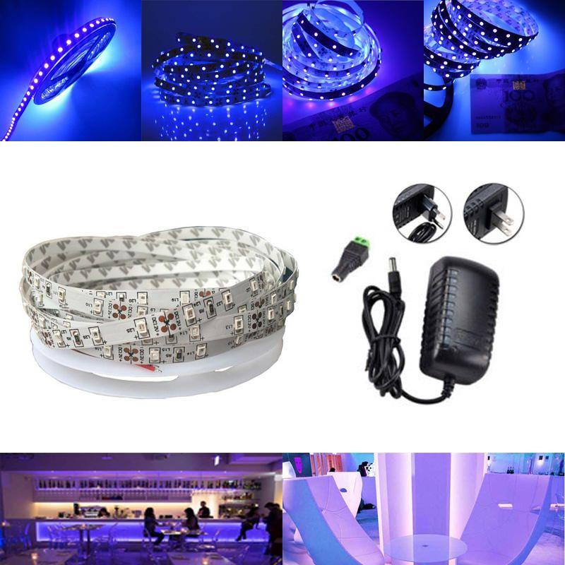 US14.41 5M UV SMD2835 395405NM Purple 300 LED Non