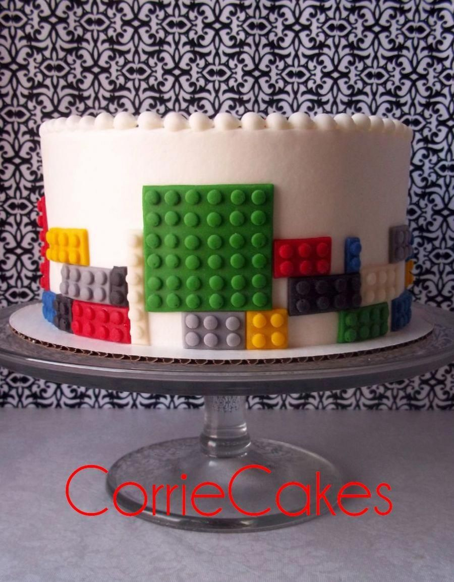 """Legos 8"""" iced in BC with MMF decorations legocake in 2020"""