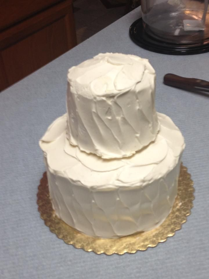 Wegmans Ultimate White Cake Stack the mini white on top of the