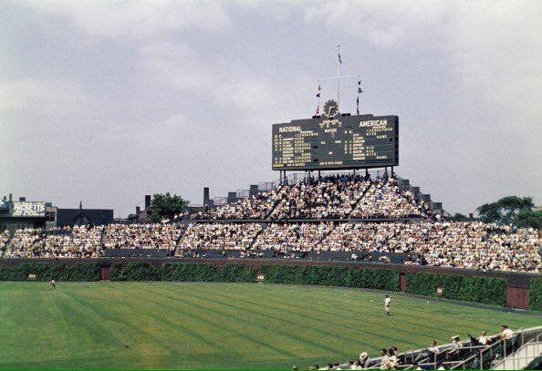 Pin By Joe Kelly On Vintage Stadiums Wrigley Field Baseball Park Field