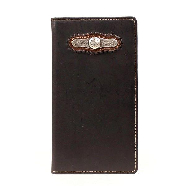 Nocona Men's Black Floral Concho Rodeo Wallet N5453801