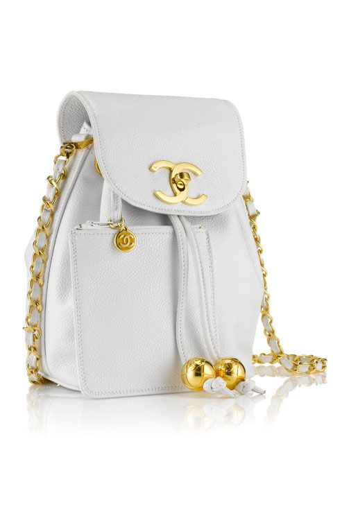 53f3eb185b92 We re in love with this vintage Chanel backpack from the Fenwick Bond  Street White