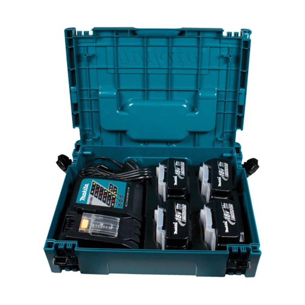 Makita 196696 4 Power Source Kit 18v 4x3ah Batts Charger Is A Combination Of Quality Durability And Performance In One It P Makita Power Source Power Tools