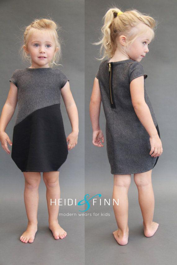 Cocoon dress PDF pattern and tutorial 12m-5T tunic dress jumper easy sew
