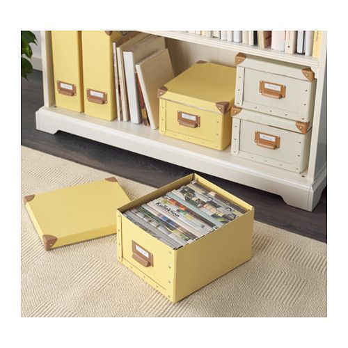 fj lla box with lid yellow ikea rich bold colors. Black Bedroom Furniture Sets. Home Design Ideas