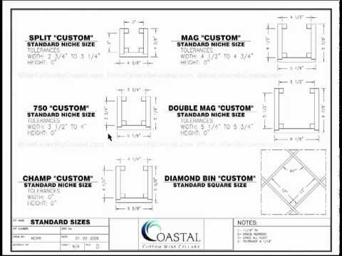 Watch This Video Featuring Custom Wine Cellars Wine Rack Opening Sizes Or Click On This Link To R Custom Wine Cellars Wine Cellar Racks Wine Bottle Dimensions