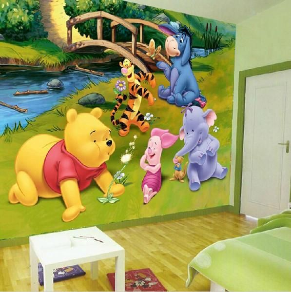 Winnie the Pooh Tiger Cartoon Wall Mural Stereoscopic