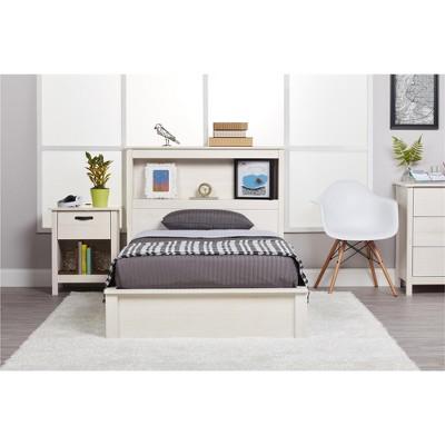Austin Queen Platform Bed Frame - Vintage White - Ameriwood Home ...