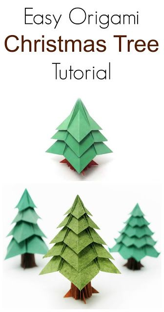 Diy Easy Origami Christmas Tree Tutorial Origami Christmas Tree Origami Easy Christmas Origami