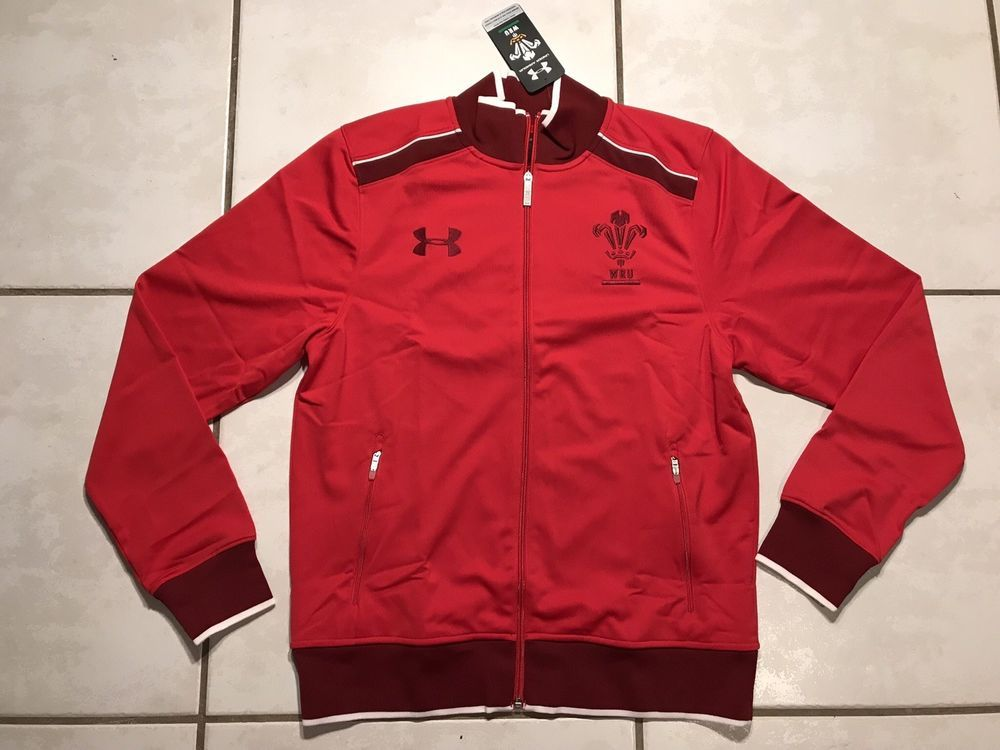 Under Armour Wales Team Polo Shirt Mens Gents Tee Top Short Sleeve Button