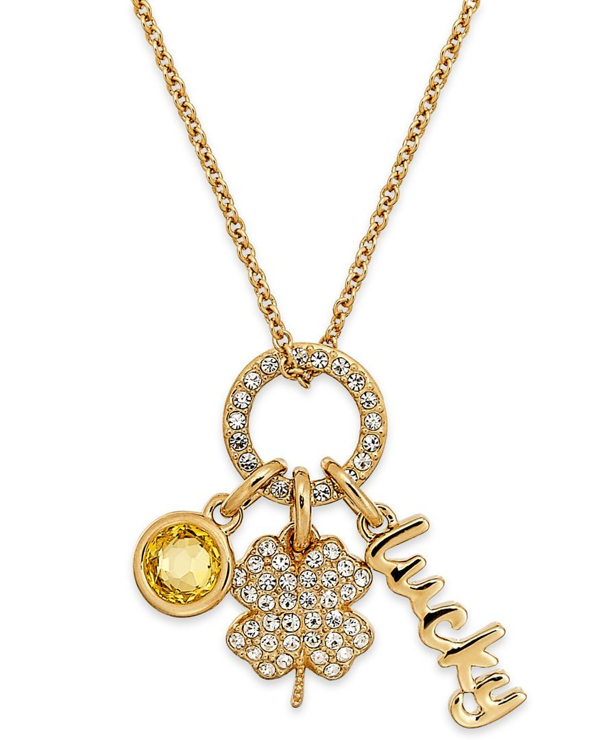 Eliot danori k goldplated lucky charms necklace products