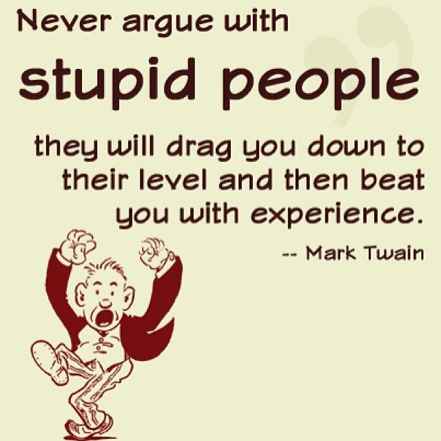 Don T Argue With Village Idiots Stupid People Funny Quotes Best Quotes