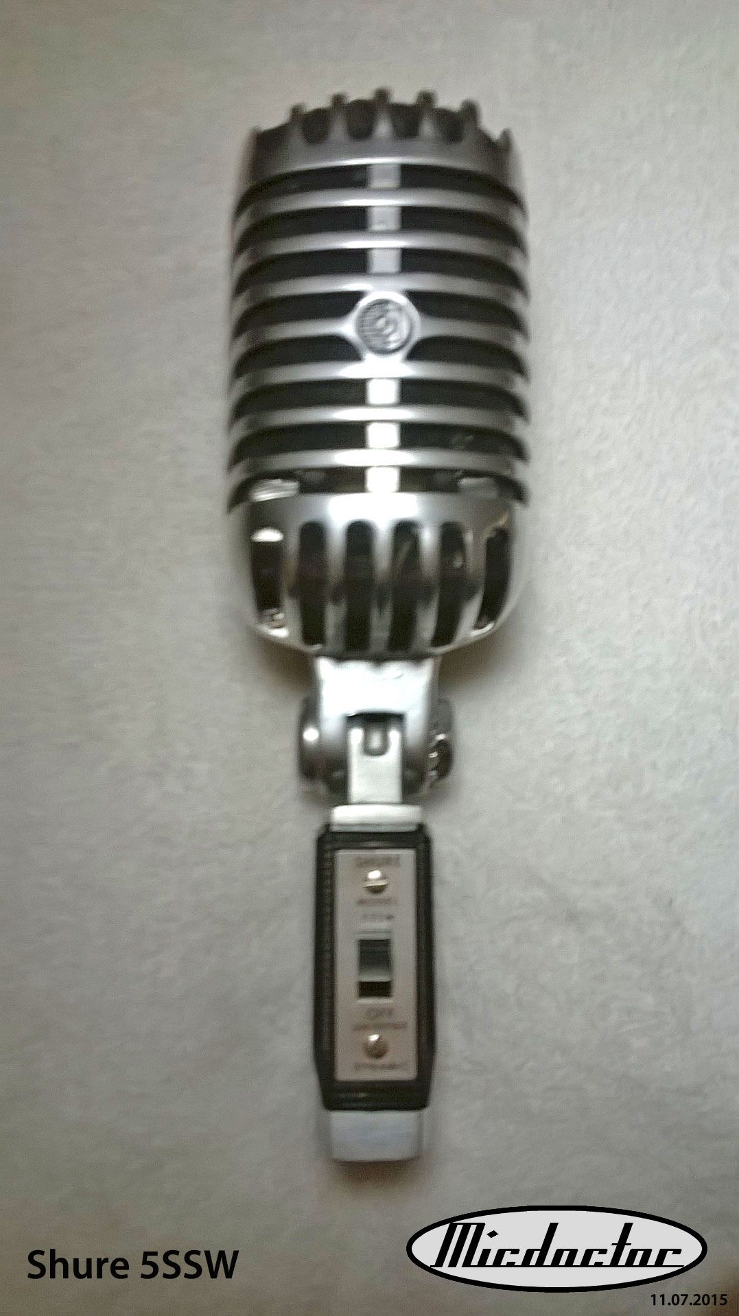 a vintage fabulously original shure 55sw microphone for sale front view micdoctor. Black Bedroom Furniture Sets. Home Design Ideas