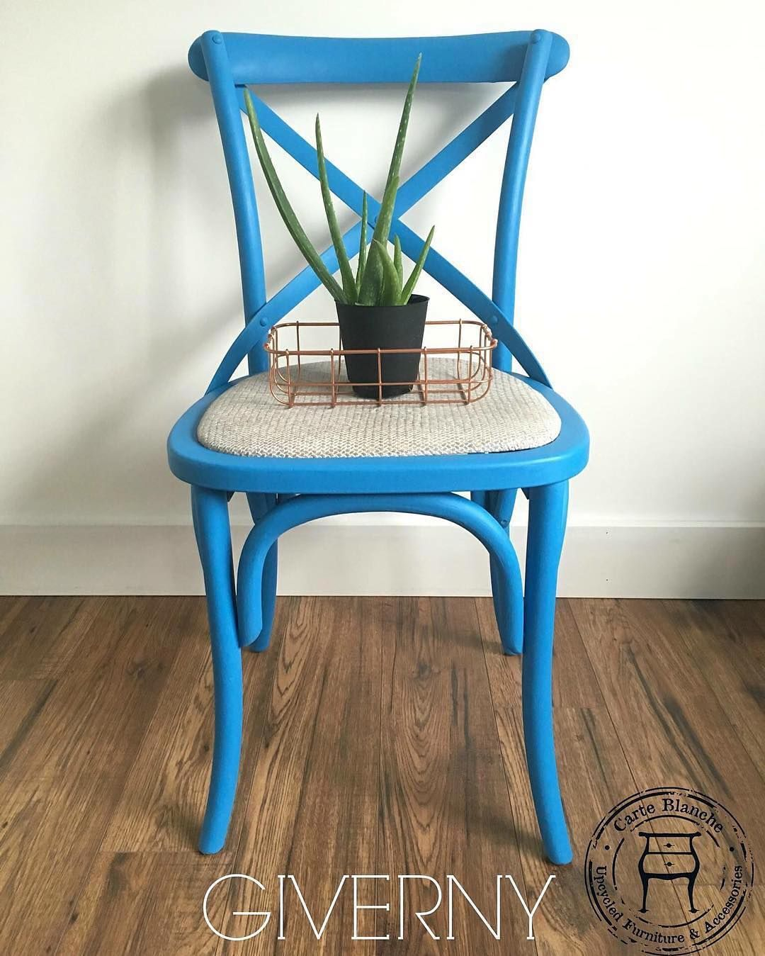 Uncategorized hand painted childrens table and chairs foter - Have You Tried Out Giverny The Latest Addition To The Chalk Paint Color Palette This Striking Blue Chair Was Done By Moncton Nb Can Stockist Carte
