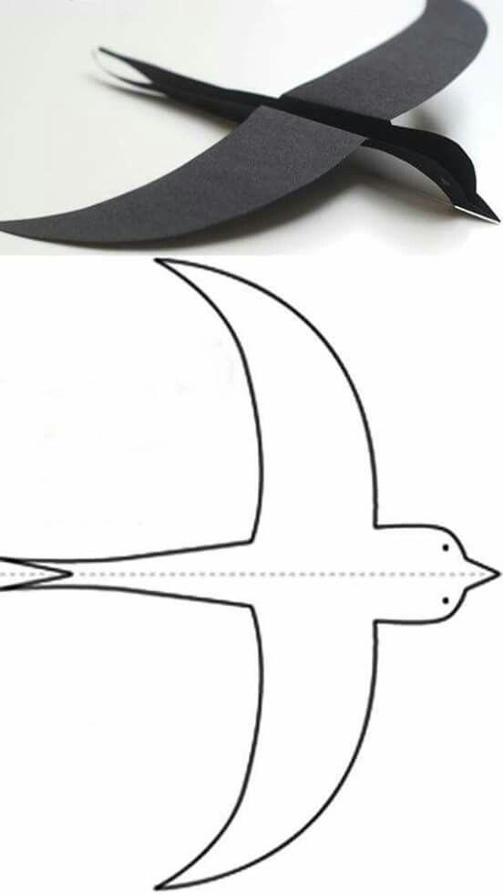 flying bird paper craft