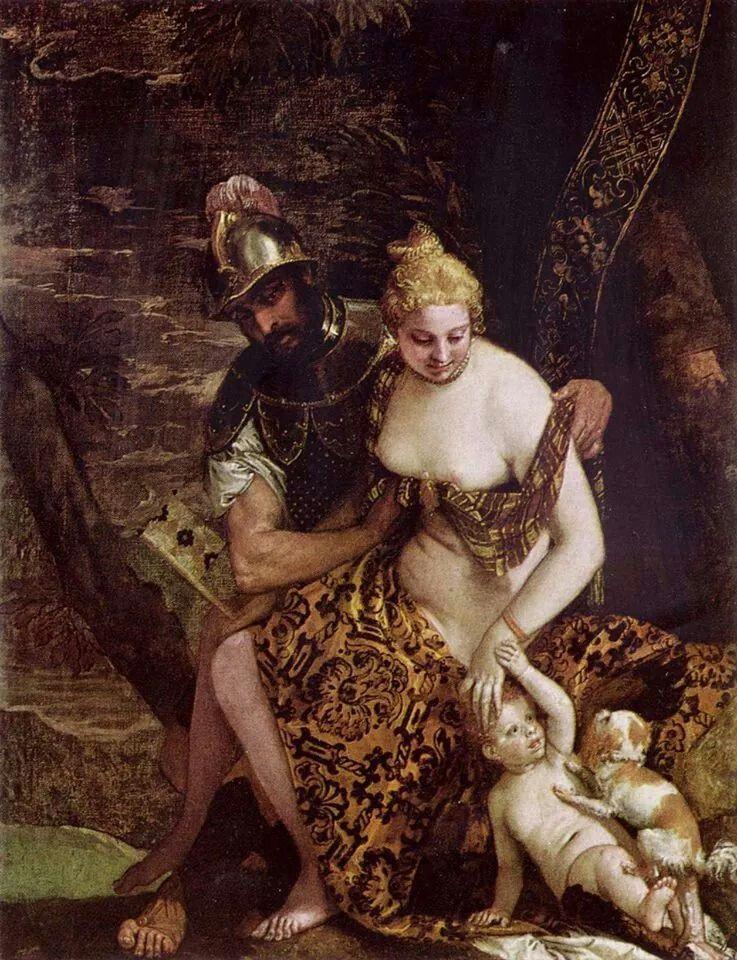 Marte Desnuda A Venus Paolo Veronese Vi Modelo Veneciano En La