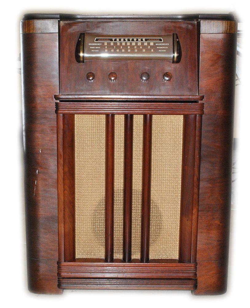Floor Model Kitchen Cabinets For Sale: Details About Truetone Vintage D2237 Tube Am Radio Plastic