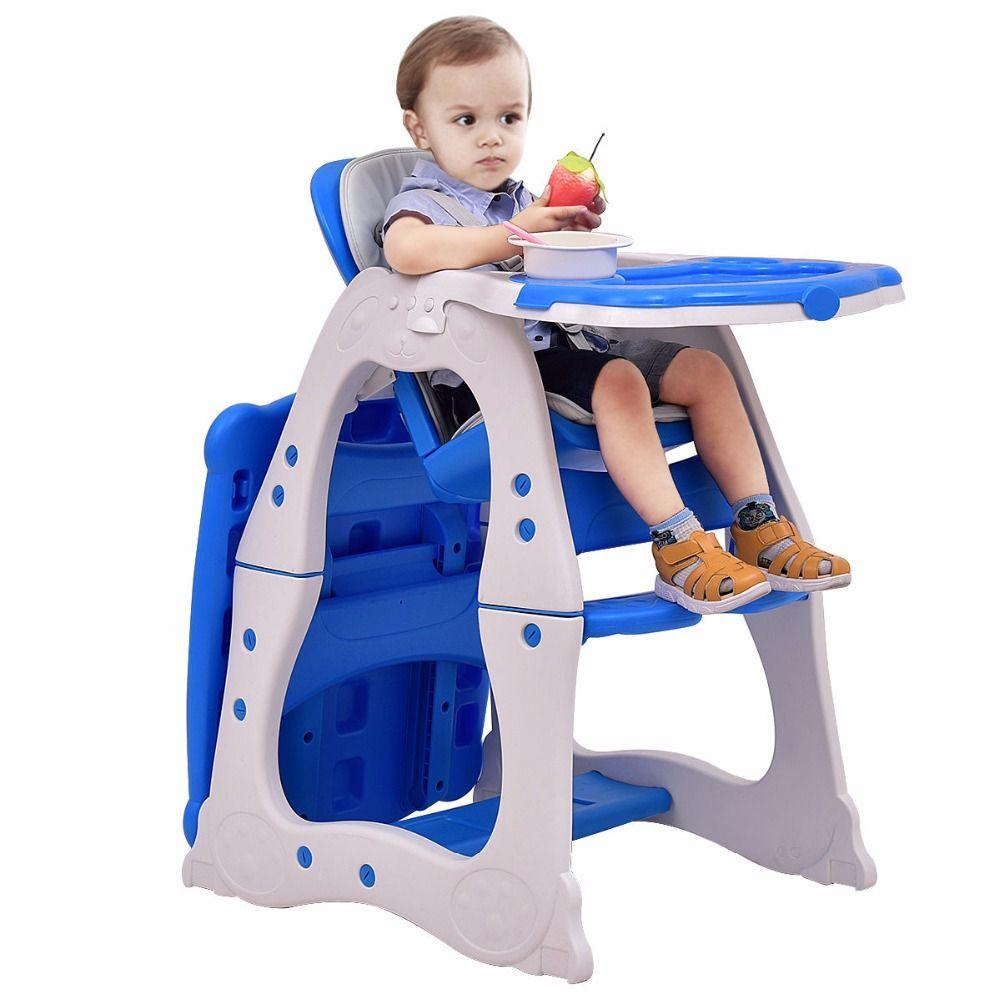 Hoge Stoel Voor Peuter.Giantex 3 In 1 Hoge Stoel Convertible Spelen Tafel Seat