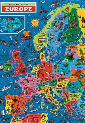 K or d europe map jigsaw puzzle by james hamilton grovely amazon k or d europe map jigsaw puzzle by james hamilton grovely amazon toys games gumiabroncs Image collections
