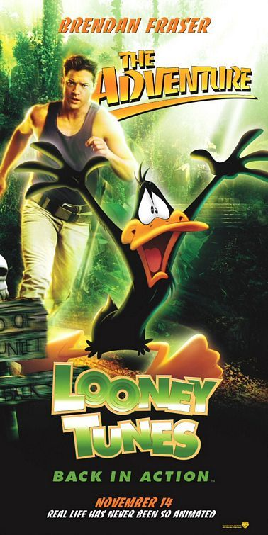 Looney Tunes: Back in Action , starring Brendan Fraser, Jenna Elfman, Steve Martin, Heather Locklear. The Looney Tunes search for a man's missing father and the mythical Blue Monkey diamond. #Animation #Adventure #Comedy #Family