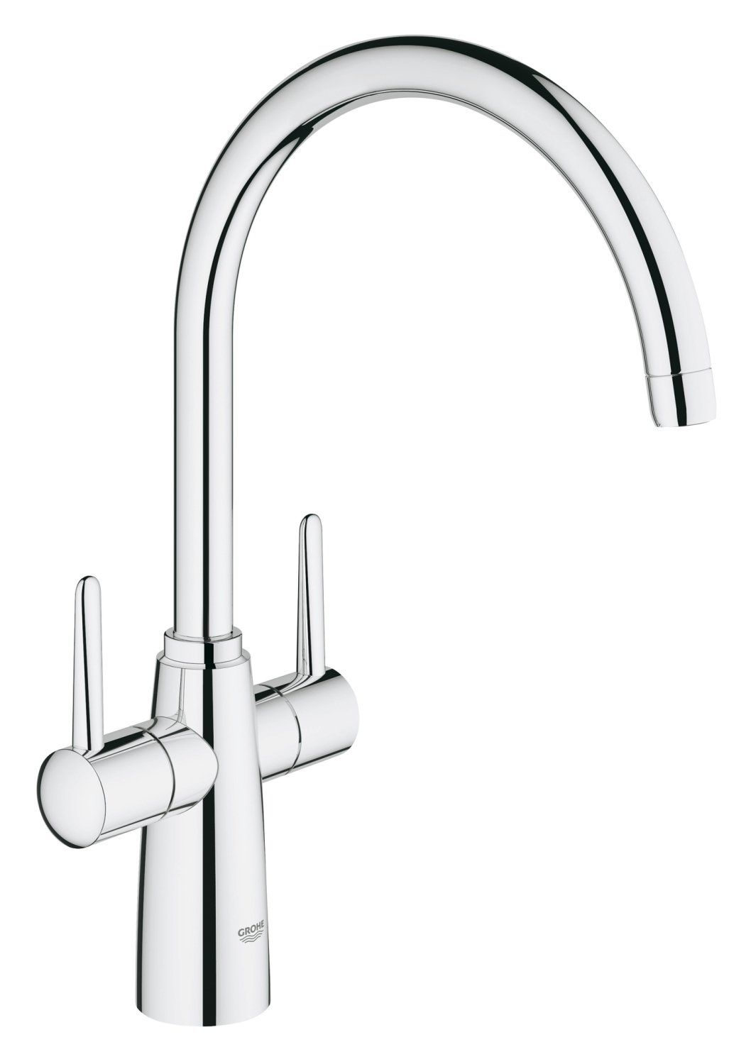 Grohe 30189000 Ambi Contemporary Two Handle Kitchen Tap  Garage Fascinating Kitchen Taps Design Decoration