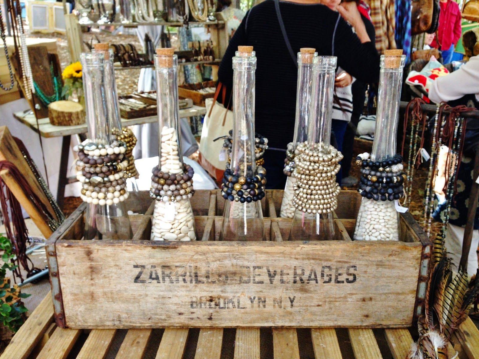 Bracelet Display Idea For A Vintage Vibe At Craft Fair