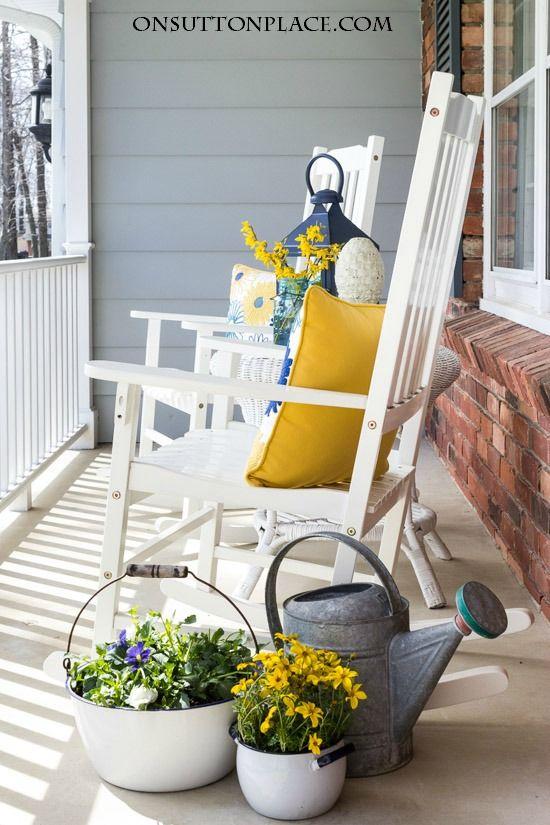 Spring Into Summer Porch Refresh On Sutton Place Front Porch Decorating Spring Porch Summer Porch